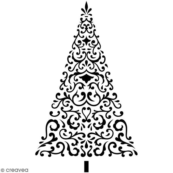 Tampon Bois Artemio Barok - Sapin de Noël - 6 x 8,7 cm - Photo n°1