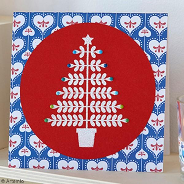 Tampons Clear Artemio Folk - Joyeux Noël - 5 pcs - Photo n°2