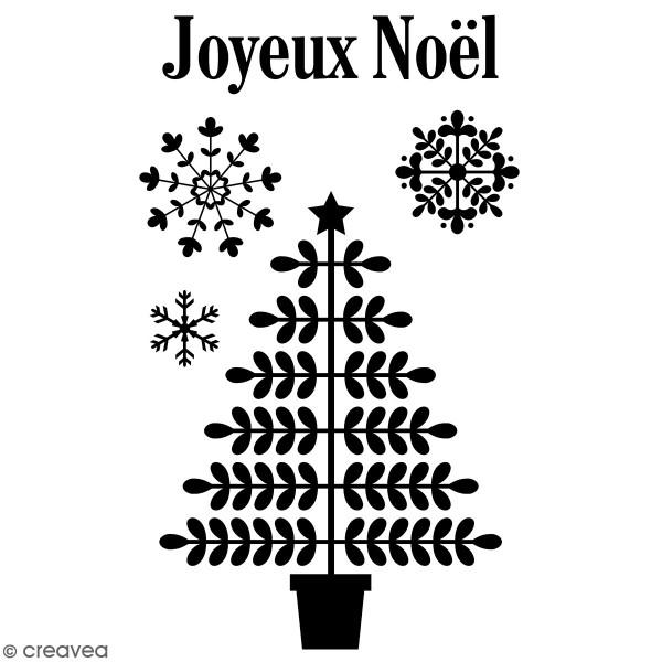Tampons Clear Artemio Folk - Joyeux Noël - 5 pcs - Photo n°1
