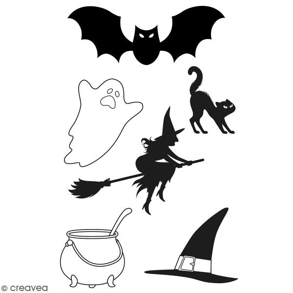 Tampons Clear Artemio Halloween - Boo  - 6 pcs - Photo n°1