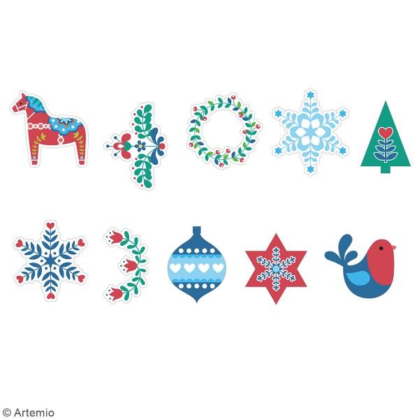 Stickers papier washi - Folk - 50 pcs - Photo n°2