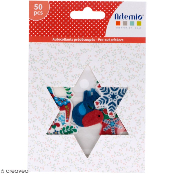 Stickers papier washi - Folk - 50 pcs - Photo n°1