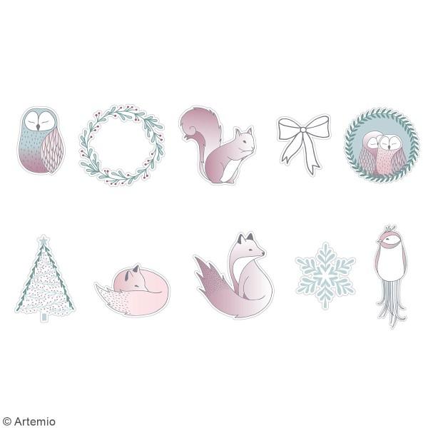 Stickers papier washi - Isatis - 50 pcs - Photo n°2