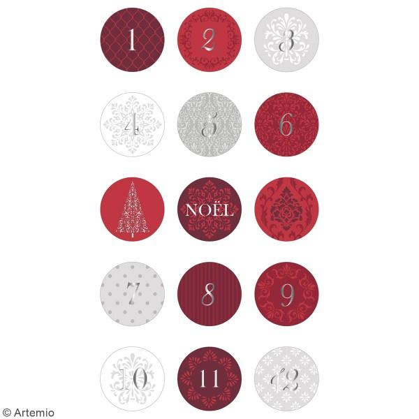 Stickers ronds calendrier de l'avent - Barok - 30 pcs - Photo n°2