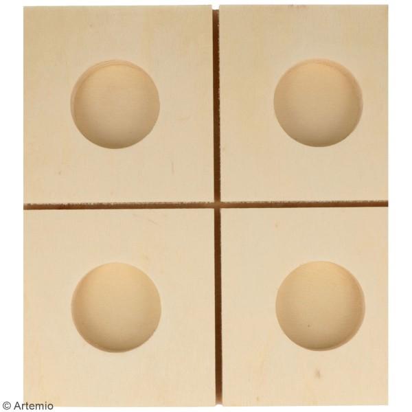 Bougeoir Sapin ajouré en bois - 4 bougies - 19 x 19 x 25 cm - Photo n°2