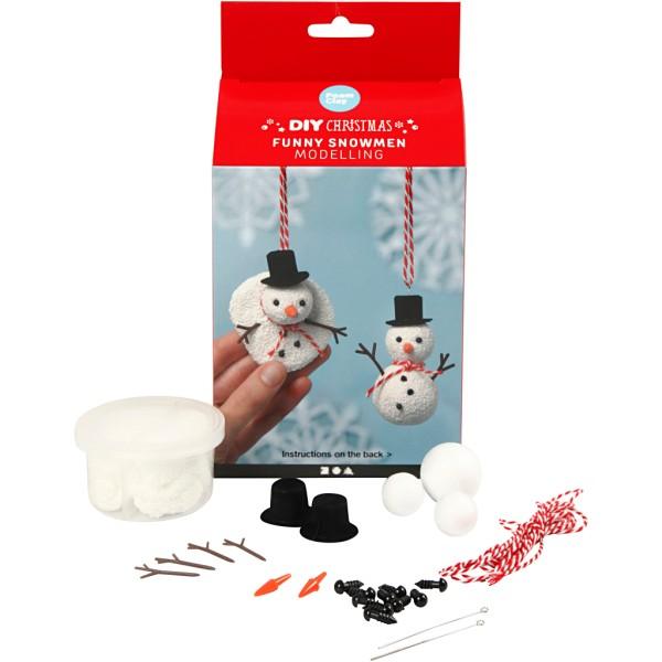 Kit Modelage Noël - Foam Clay - Bonhommes de neige - Photo n°1