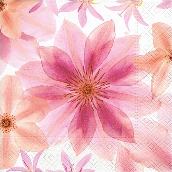 Serviettes en papier - Fleurs - 33 x 33 cm - 20 pcs - Photo n°1