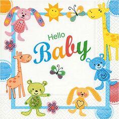 Serviettes en papier - Hello Baby - 33 x 33 cm - 20 pcs