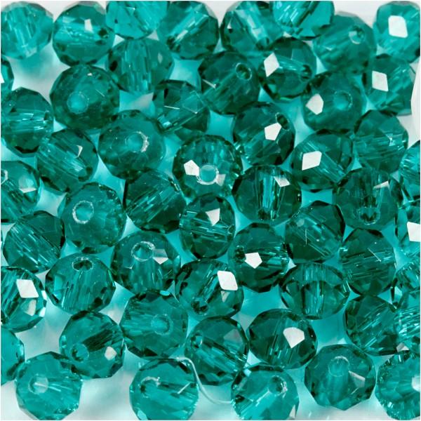 Perles rondes à facettes 4 mm - Vert - 45 pcs - Photo n°1