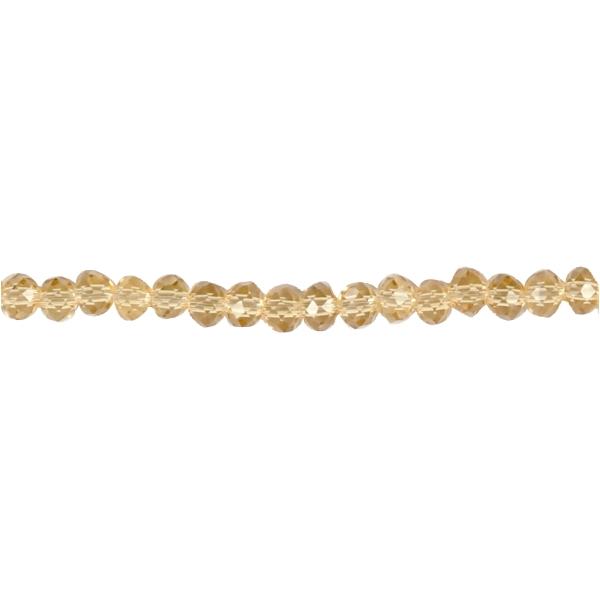 Perles rondes à facettes 4 mm - Jaune - 45 pcs - Photo n°1