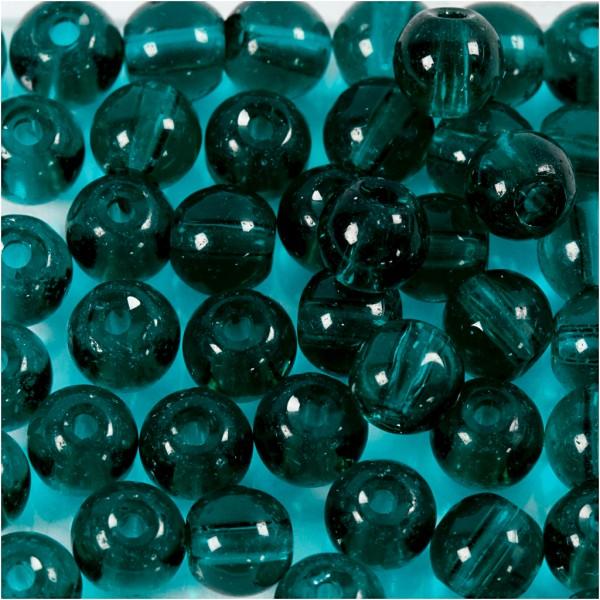 Perles en verre 4 mm - Vert - 45 pcs - Photo n°1