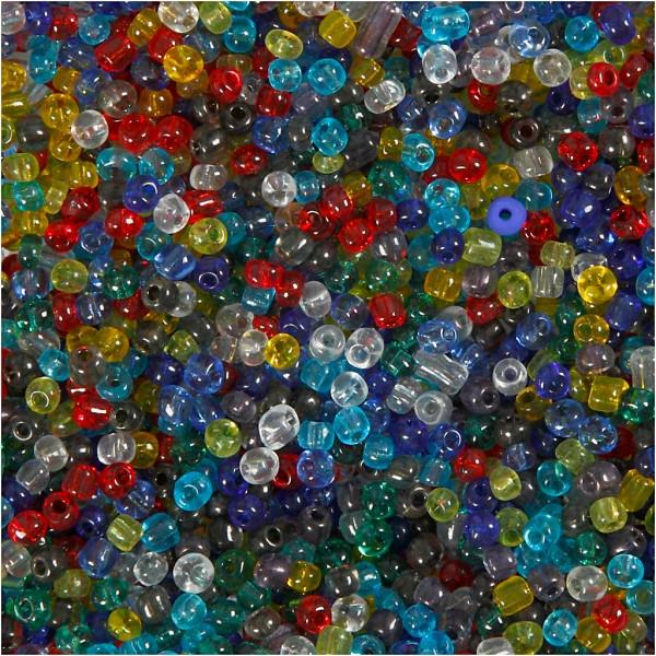 Assortiment de perles de rocaille - Transparent - 4 mm - 1 kg - Photo n°1