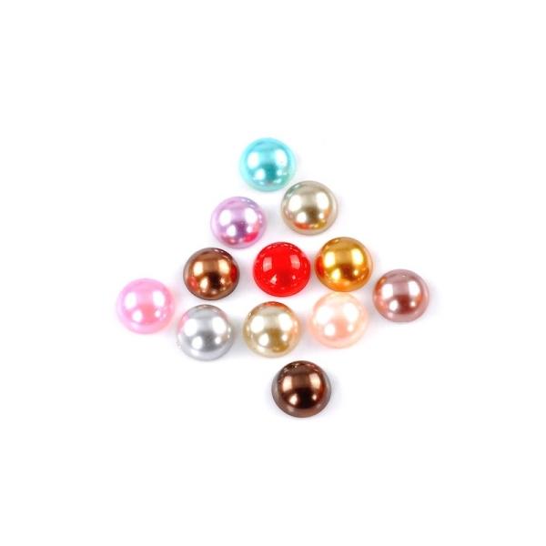 10 Cabochons demi-perle mixte nacré 14 mm - Photo n°1