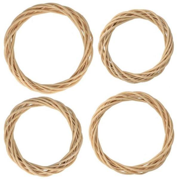 4 couronnes en osier Ø 15 à 30 cm - Photo n°1