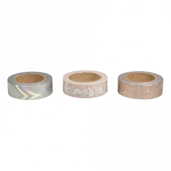 3 masking tapes 10 m x 1,5 cm - Nordique - Photo n°2