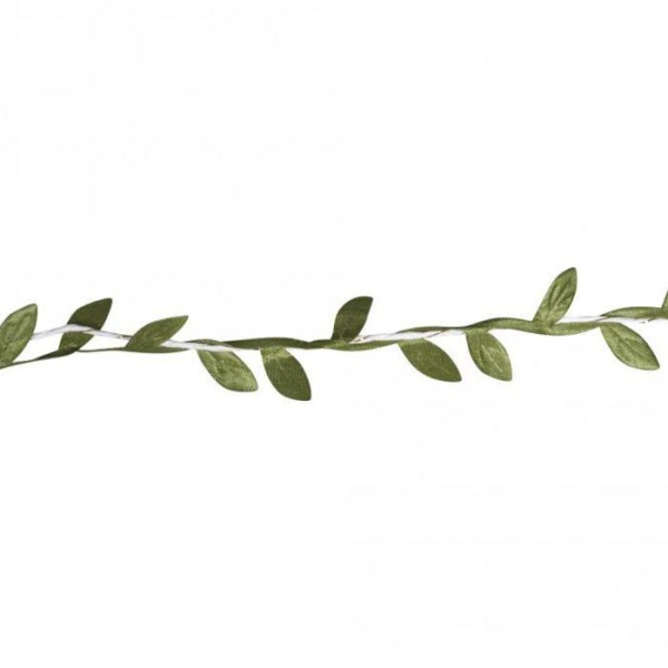 Guirlande de feuilles vertes en papier 2 m - Photo n°2