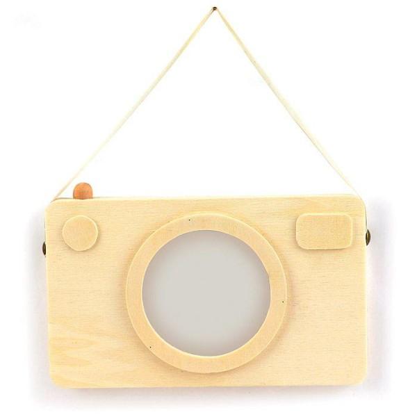Cadre photo en bois - Appareil photo Polaroïd 20 x 12 cm - Photo n°1