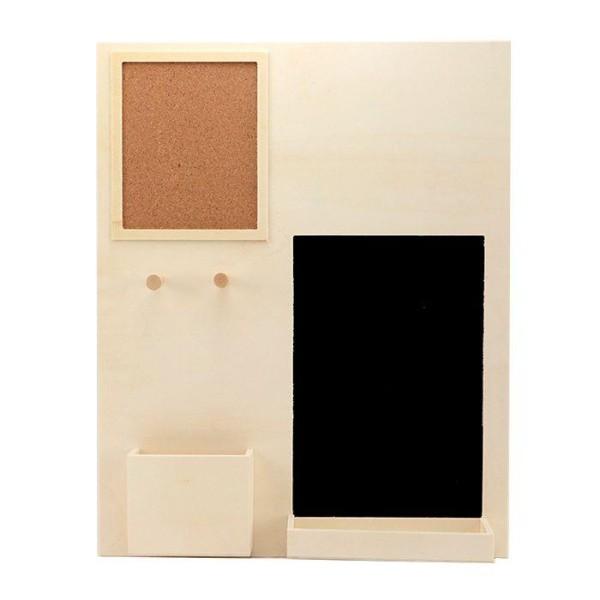 Organiseur de bureau en bois 39,5 x 49,5 cm - Photo n°1