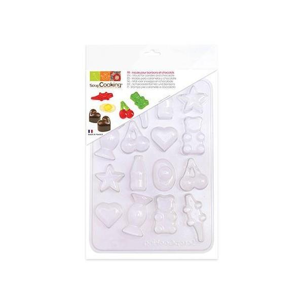 Moule en plastique pour bonbons et chocolats - Photo n°1