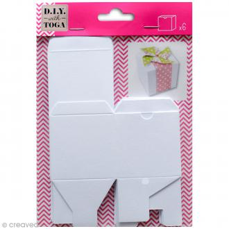 Boîte cube Blanc - 5,5 x 5,5 cm - 6 pcs