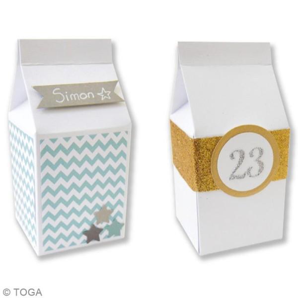 Boîte à lait Blanc - 5,5 x 7 cm - 6 pcs - Photo n°2
