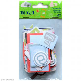 Die cut Toga Be Connected - 62 pcs