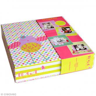 Kit scrapbooking Scrapbox - Jolies chouettes