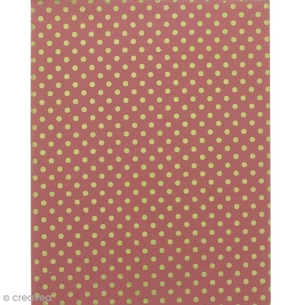 Papier scrapbooking recyclé - L'Or de Bombay - Rose & Or - 6 feuilles 27,8 x 21,6 cm - Photo n°5