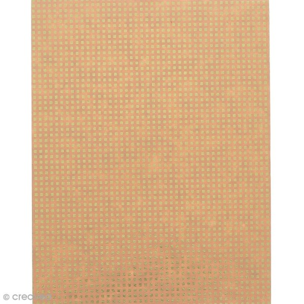 Papier scrapbooking recyclé - L'Or de Bombay - Rose & Or - 6 feuilles 27,8 x 21,6 cm - Photo n°6