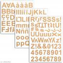 Stickers alphabet chipboard 2 cm - Kraft - 165 pcs - Photo n°2