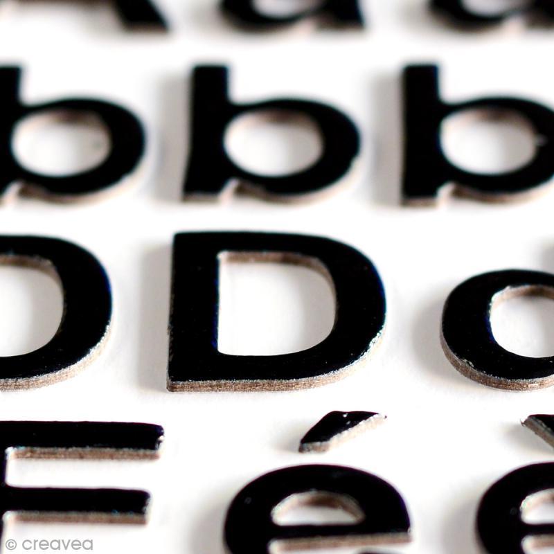 Stickers alphabet chipboard 2 cm - Noir - 165 pcs - Photo n°3