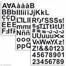 Stickers alphabet chipboard 2 cm - Noir - 165 pcs - Photo n°2