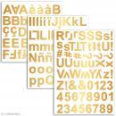 Stickers alphabet chipboard 2 cm - Doré - 165 pcs - Photo n°2