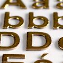 Stickers alphabet chipboard 2 cm - Doré - 165 pcs - Photo n°3