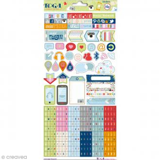 Stickers Be Connected Toga - 2 planches de 30 x 15 cm
