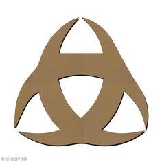 Forme en bois à décorer - Symbole Bordelais - 3 croissants - 8 x 7,5 cm