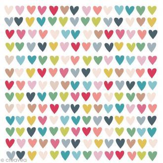 Serviette en papier - Coeur - Multicolore - 20 pcs