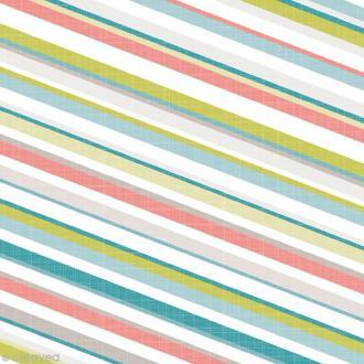 Serviette en papier - Rayures - Multicolores - 20 pcs