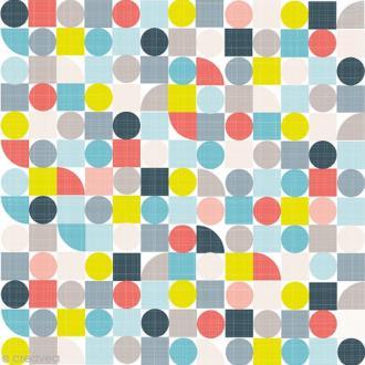 Serviette en papier - Géométrique - Bleu, gris et rose - 20 pcs
