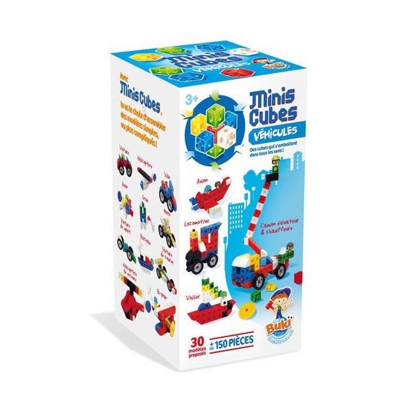 Buki - 7127 - Jeu de Construction - Mini Cubes Véhicules - Photo n°1