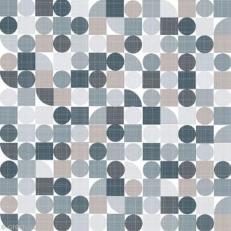 Serviette en papier - Géométrique - Gris - 20 pcs