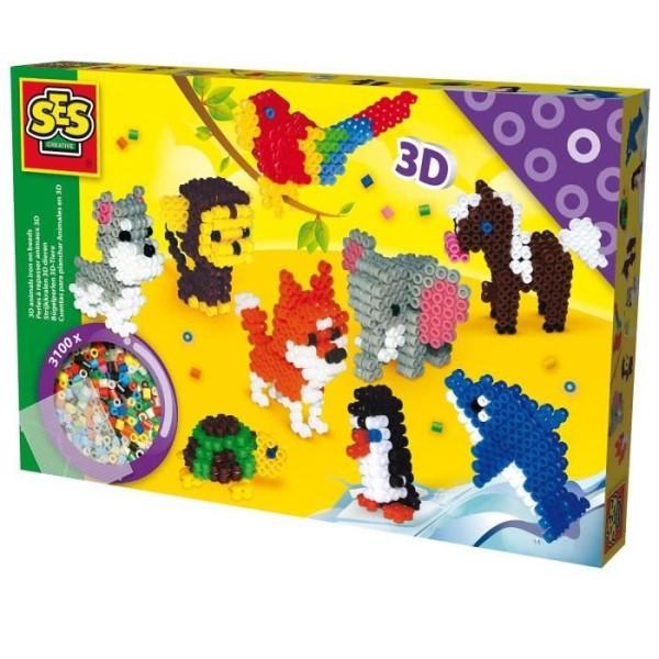 SES Creative - 06126 - Perles à repasser - Animaux en 3D - Photo n°2