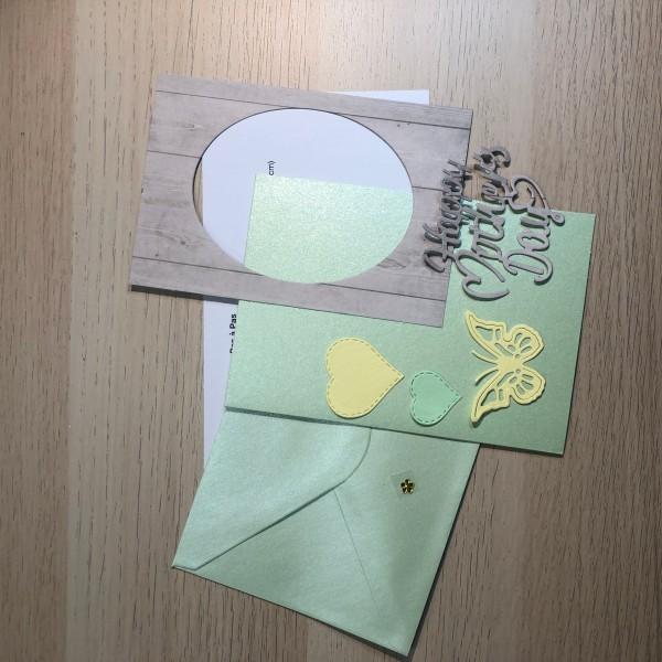 Kit scrapbooking carte fête des mères 10,5/15 cm - Photo n°2