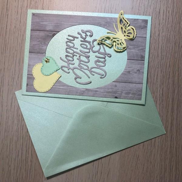 Kit scrapbooking carte fête des mères 10,5/15 cm - Photo n°1