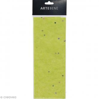 Papier de soie - Vert - Effet pailleté - 50 x 70 cm - 3 pcs