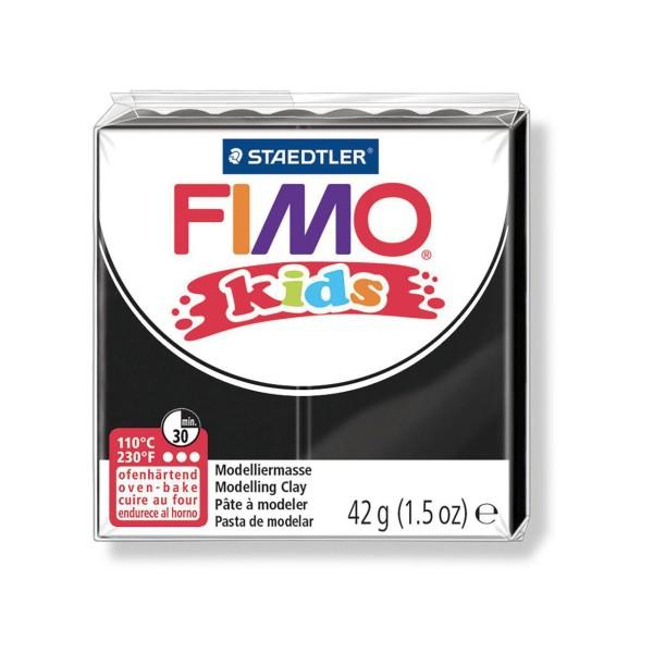 FIMO Kids 42g - les Enfants de la pâte à modeler Noire, des Fournitures d'Artisanat, Argile Polymère - Photo n°1