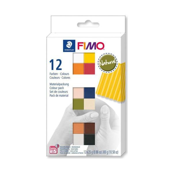 FIMO Soft Set de 12 Couleurs 25g Naturel, Bricolage à la Main, de l'Artisanat Fournitures, de l'Arti - Photo n°1