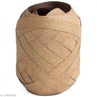 Pelote bolduc pailleté - Cuivre - 10 mm x 20 m