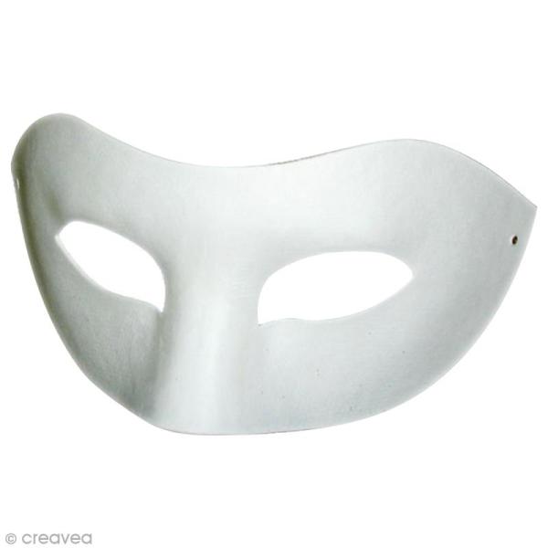 Masque loup à décorer - 25 x 8,5 cm - 2 pcs - Photo n°1