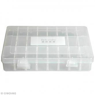 Boîte de rangement à compartiments amovibles - 24 cases
